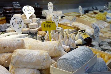 Albi Fromagerie Emeline marché couverts - fromages du Tarn