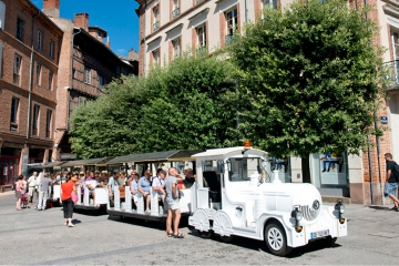 The little tourist train in Albi